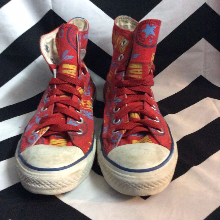 136fb96cae26 CONVERSE ALLSTAR SNEAKERS - HIGH TOPS - CHUCK TAYLOR PATTERN ...