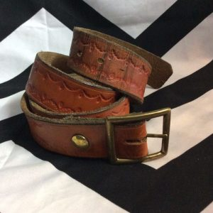 Western Brown Leather w/ Victorian Pattern Stamp 4K 1