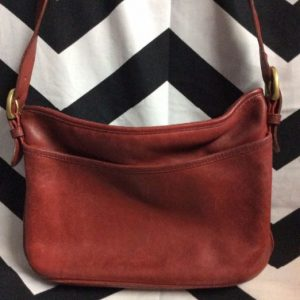 Soft Red Leather Coach Shoulder Bag 4K 1