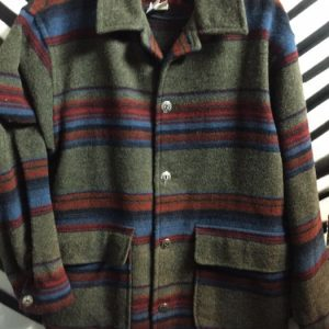 1970S LS BD WOOL JACKET STRIPES 1