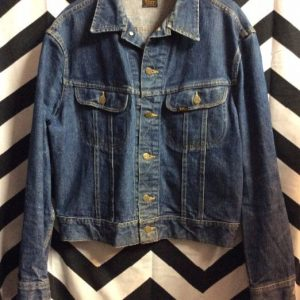 CLASSIC RETRO DENIM JACKET DARK WASH 1