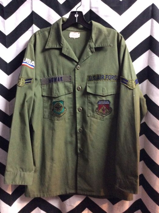 AIR FORCE MILITARY SHIRT W/PATCHES