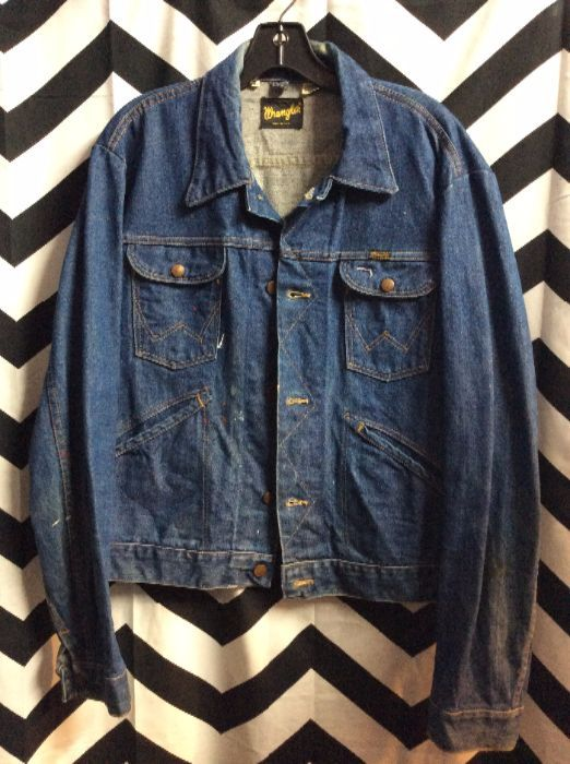 CLASSIC RETRO DENIM JACKET DARK WASH WRANGLER 1