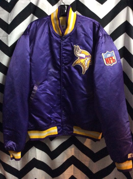 quality design 9f4de 7b8b1 SATIN NFL JACKET MINNESOTA VIKINGS