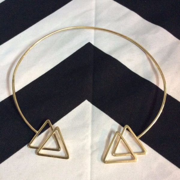 product details: CHOKER NECKLACE- DOUBLE TRIANGLE photo