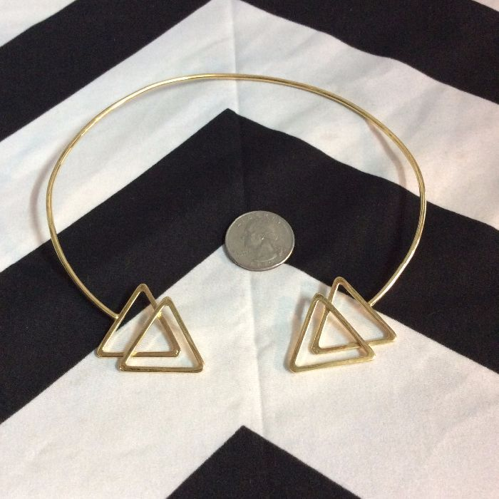 CHOKER NECKLACE- Double Triangle 3