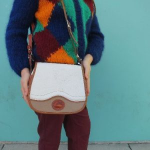 STRUCTURED LEATHER CROSSBODY PURSE 1