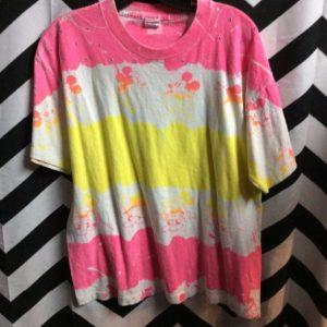 Neon Dayglow tie-dye mickey mouse t-shirt 1