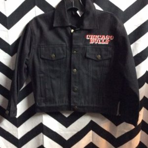 CROPPED DENIM JACKET CHICAGO BULLS SMALL SIZE 1