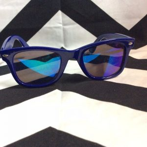BASIC wayfarer SUNGLASSES STAR SIDES BLUE 1