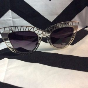 Metal Cut Out CAT EYE SUNGLASSES 1