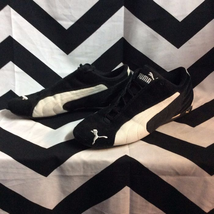 PUMA Running Shoes Black White Logo 2