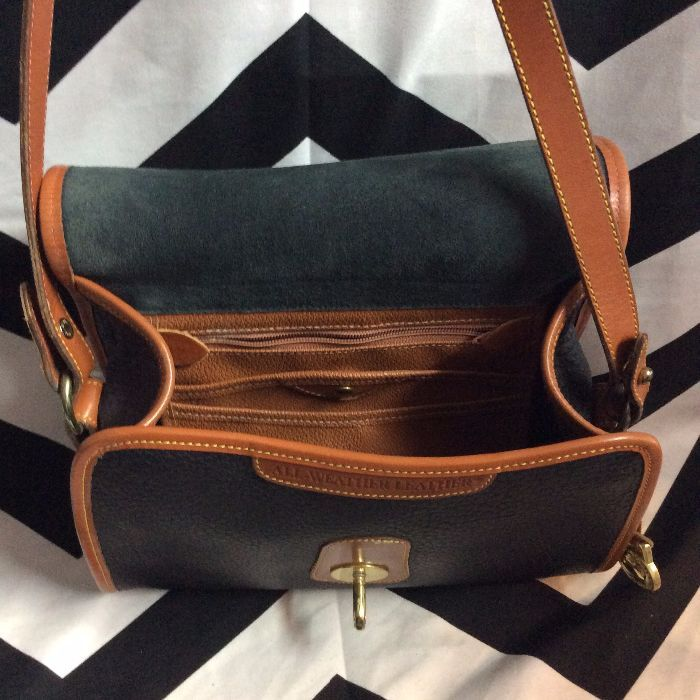 MINT GORGEOUS STRUCTURED DOONEY   BOURKE TWO-TONED LEATHER CROSS BODY BAG 2 ebfb8841ea
