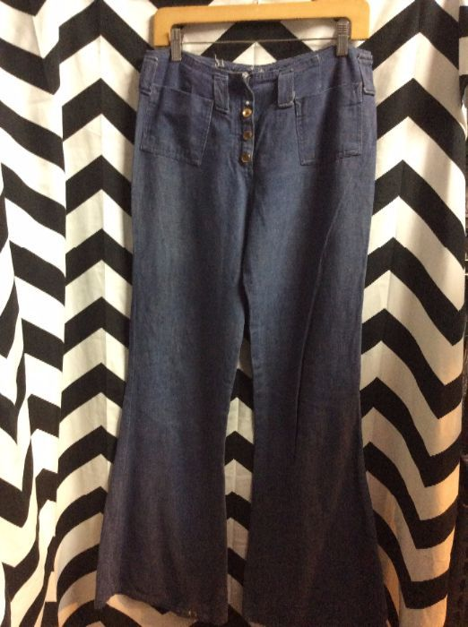 DENIM BELLBOTTOMS WITH ICE CREAM PATCH AS IS 3
