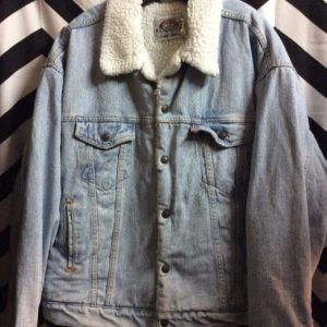 Levis Red Tab Washed Jacket Sherpa Lining 1
