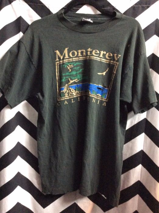 product details: T-SHIRT - MONTEREY CALIFORNIA W/BONSAI TREE - SUPER SOFTY photo