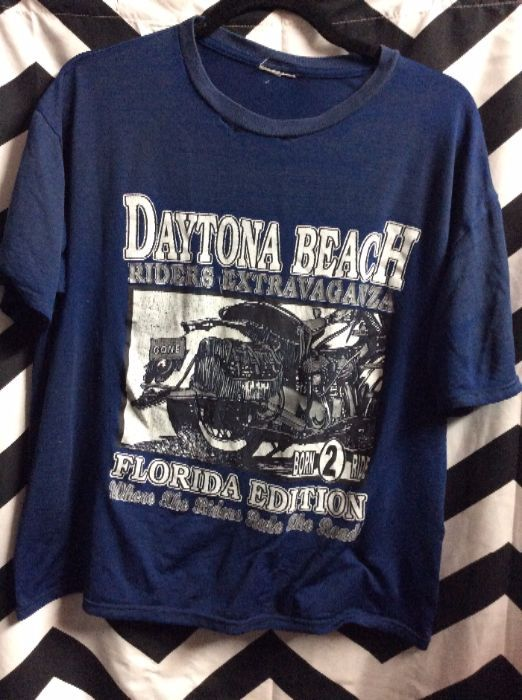 product details: T-SHIRT - DAYTONA BEACH RIDERS EXTRAVAGANZA - SUPER SOFTY - THIN photo