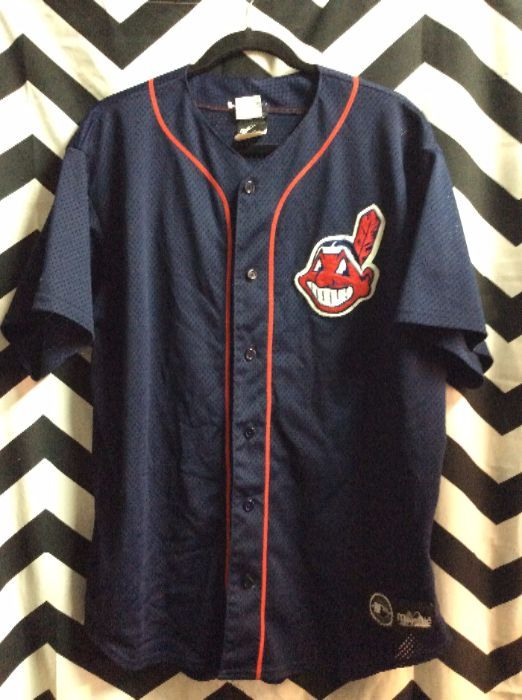 sale retailer 99dca 3bed4 MAJESTIC BASEBALL JERSEY - CLEVELAND INDIANS - PATCH ON LEFT CHEST