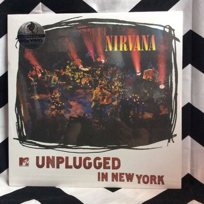 BW VINYL NIRVANA UNPLUGGED IN NY