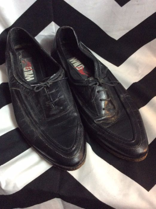 LEATHER POINTED OXFORDS 1