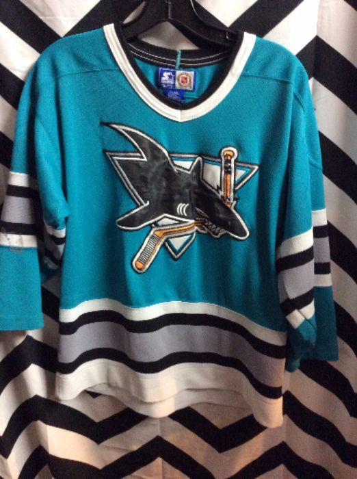 54131c266 STARTER HOCKEY JERSEY - SAN JOSE SHARKS » Boardwalk Vintage