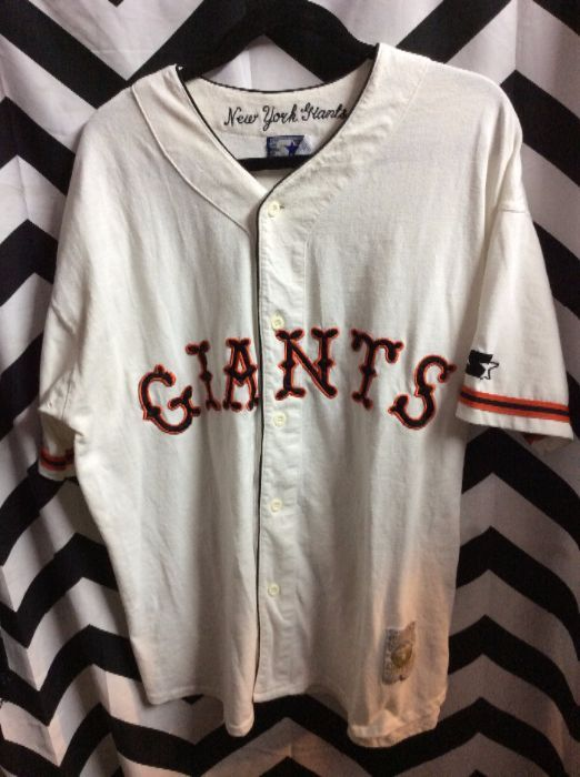 huge selection of 1ed1e 7b072 MLB COOPERSTOWN COLLECTION NY GIANTS THROWBACK BASEBALL JERSEY 4K