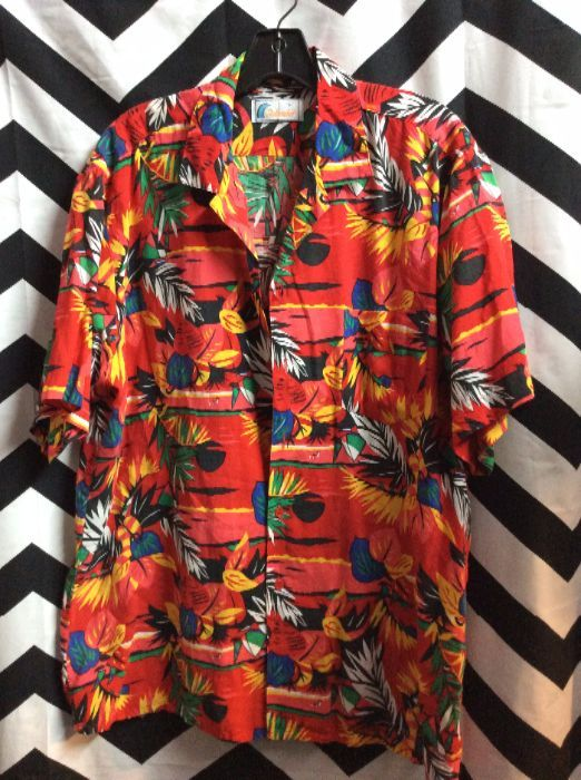 373710c4b ISLANDER HAWAIIAN SHIRT - PALM TREE PRINT » Boardwalk Vintage