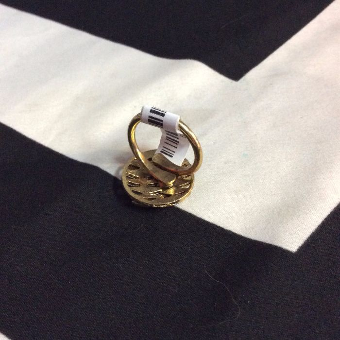 LITTLE RETRO GOLD LEAF STYLE RING CIRCLE 2