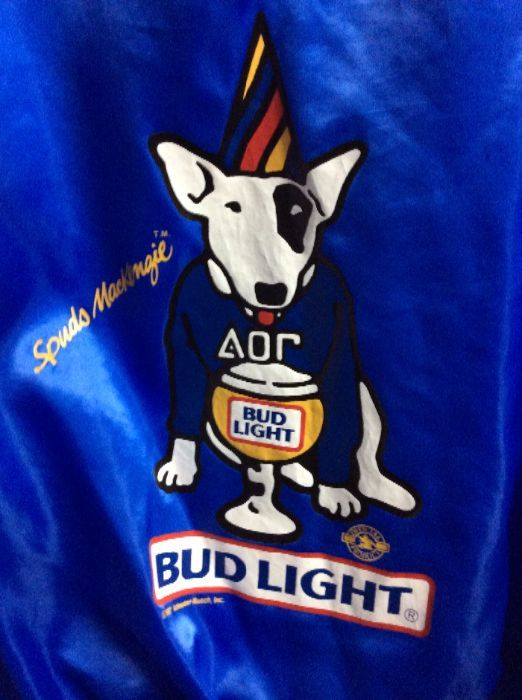 Sports Jacket Satin Spuds Mackenzie Bud Light Back