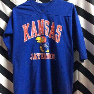 SPORT JERSEY Kansas Jayhawks KU Bird Logo 1