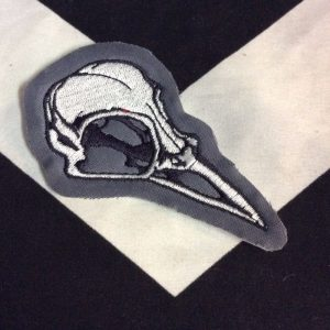 EMBROIDERED PATCH- BIRD SKULL 1