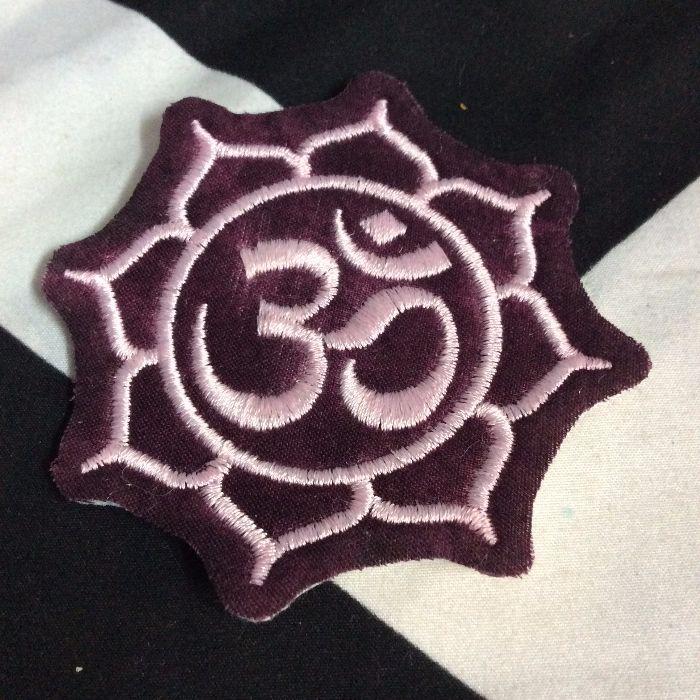 Embroidered Patch Yoga Symbol Lotus Flower Wnamaste Boardwalk
