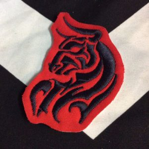 EMBROIDERED PATCH- TORO RED BLACK 1