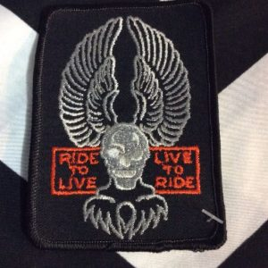 PATCH- RIDE TO LIVE SKULL EAGLE *old stock 1