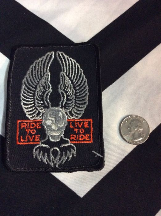 PATCH- RIDE TO LIVE SKULL EAGLE *old stock 2