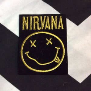 BW PATCH- NIRVANA DRUNK SMILY FACE 1