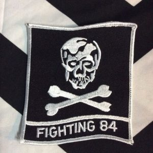 BW Patch- Fighting 84 Skull and Crossbones PML-077 Large Patch 1