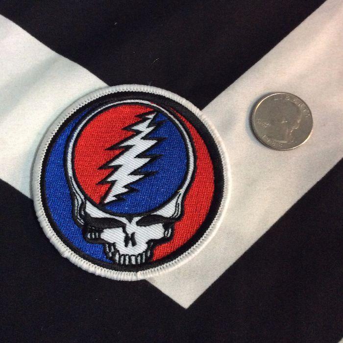 Patch Grateful Dead Classic Skull Wlightning Bolt Boardwalk