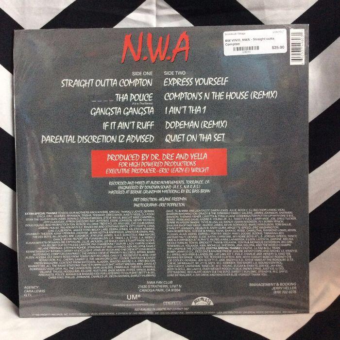 BW VINYL NWA - Straight outta Compton 2
