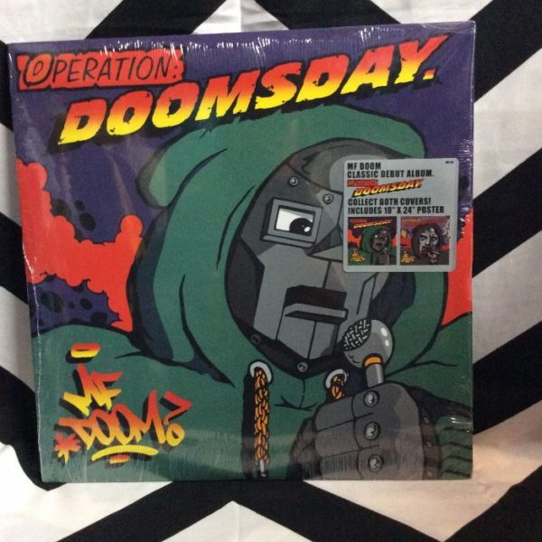 product details: BW VINYL MF DOOM - OPERATION DOOMS DAY photo