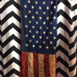 Vintage American Flag Large Distress Cotton 1