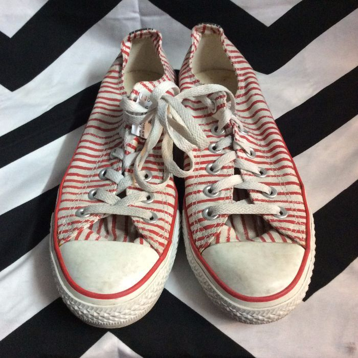 720a90275e8c CONVERSE SNEAKERS - LOW TOP - CHUCK TAYLOR - CANDY STRIPED DESIGN » Boardwalk  Vintage