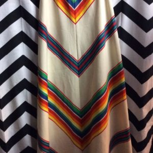 SKIRT Rainbow Chevron Cream 1