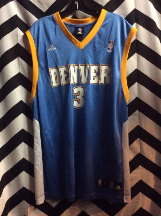 best cheap 96b66 fddde ADIDAS BASKETBALL JERSEY - DENVER NUGGETS - NBA - IVERSON #3
