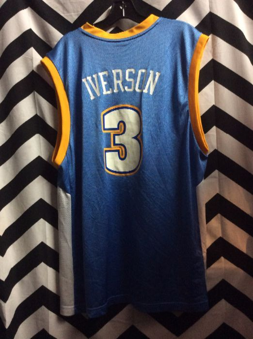 ADIDAS BASKETBALL JERSEY - DENVER NUGGETS - NBA - IVERSON  3 ... e4996081d