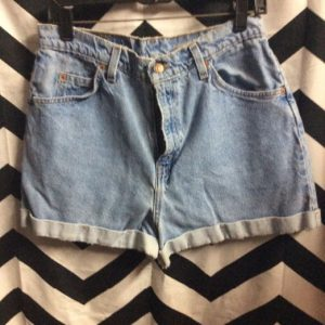 SHORTS LEVIS 954 Regular Fit Washed Blue Orange Tag Cuffed 1