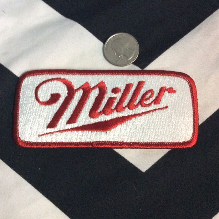 LARGE MILLER HIGH LIFE PATCHES RECTANGLE 2