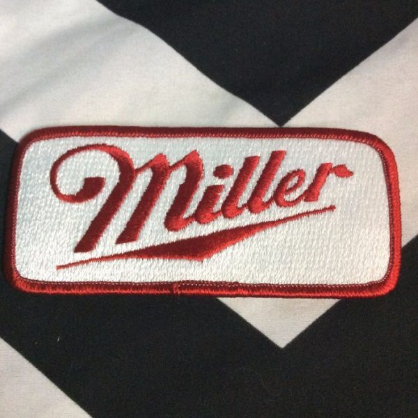 product details: EMBROIDERED PATCH - MILLER - RECTANGLE photo