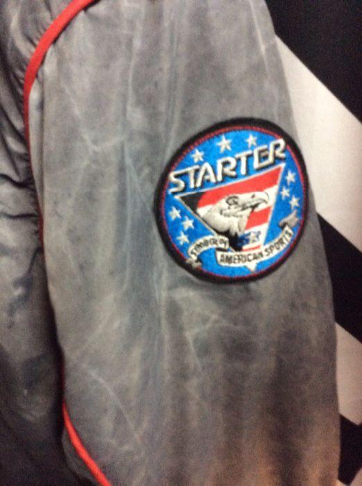 faffc6a71 STARTER BASEBALL STYLE JACKET - CHICAGO BLACKHAWKS - ACID WASH ...