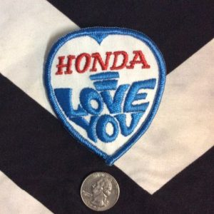 *Deadstock Honda, I love you Patch Blue & White *old stock 1